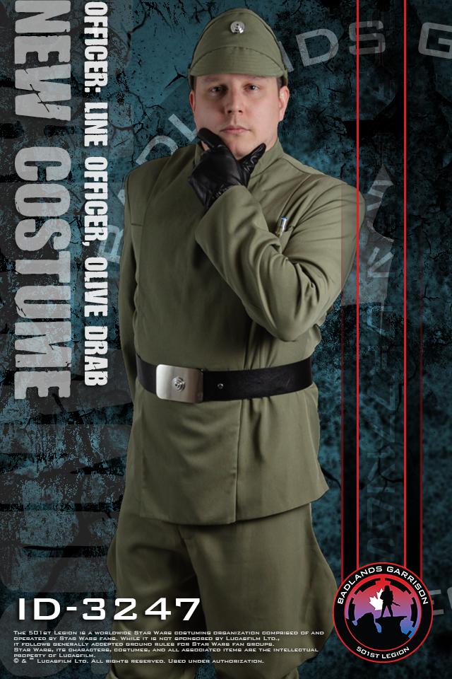 Badlands New Costume Frame ID-3247 Line Officer Olive Drab